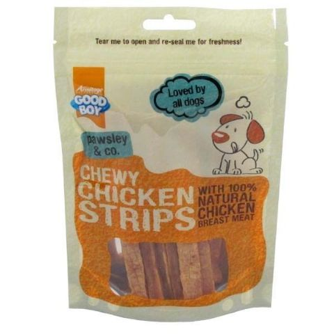 GOOD BOY PAWSLEY & CO CHEWY CHICKEN STRIPS  - WITH NATURAL CHICKEN BREAST MEAT